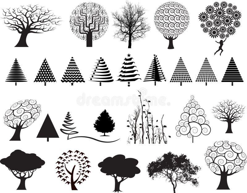 Conjunto de la ilustración del árbol libre illustration