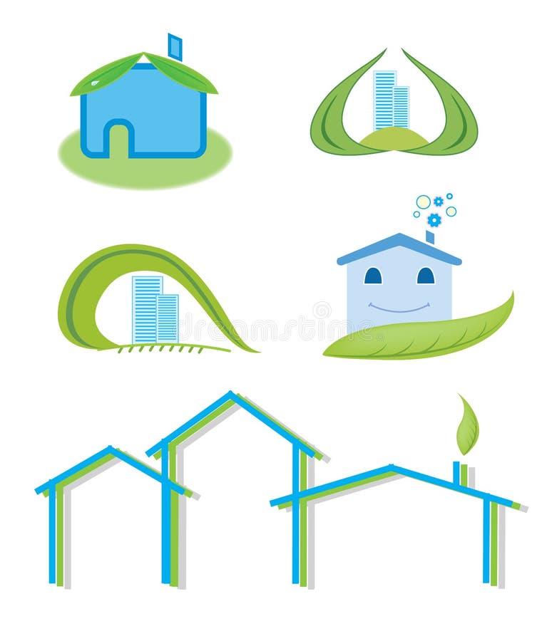Conjunto de la insignia de la casa verde libre illustration