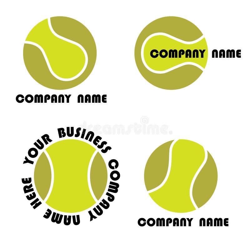 Conjunto de la insignia del tenis stock de ilustración