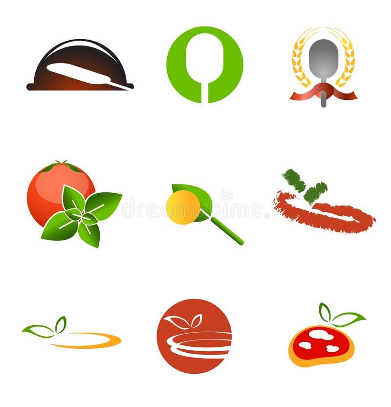 Conjunto de la insignia del vector del restaurante de la pizza libre illustration