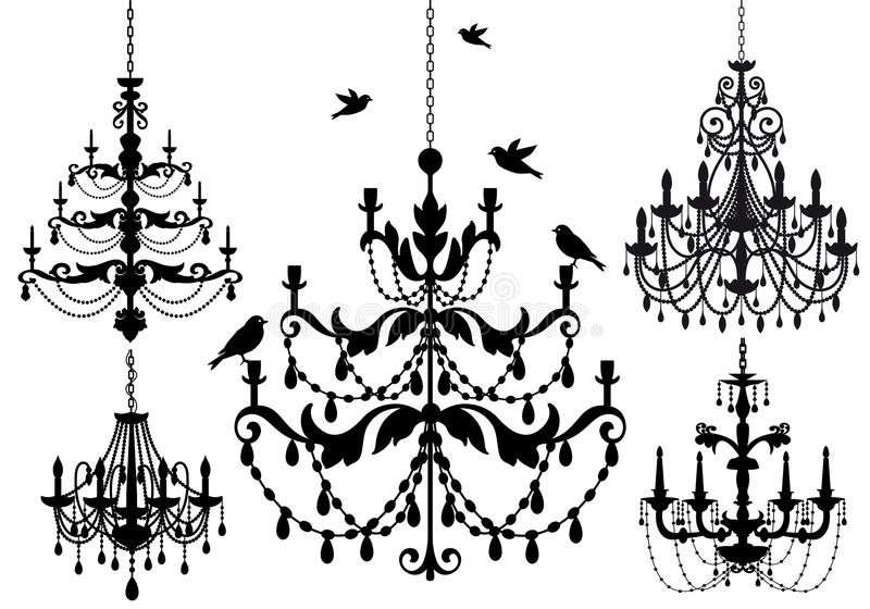 Conjunto de la lámpara, vector stock de ilustración