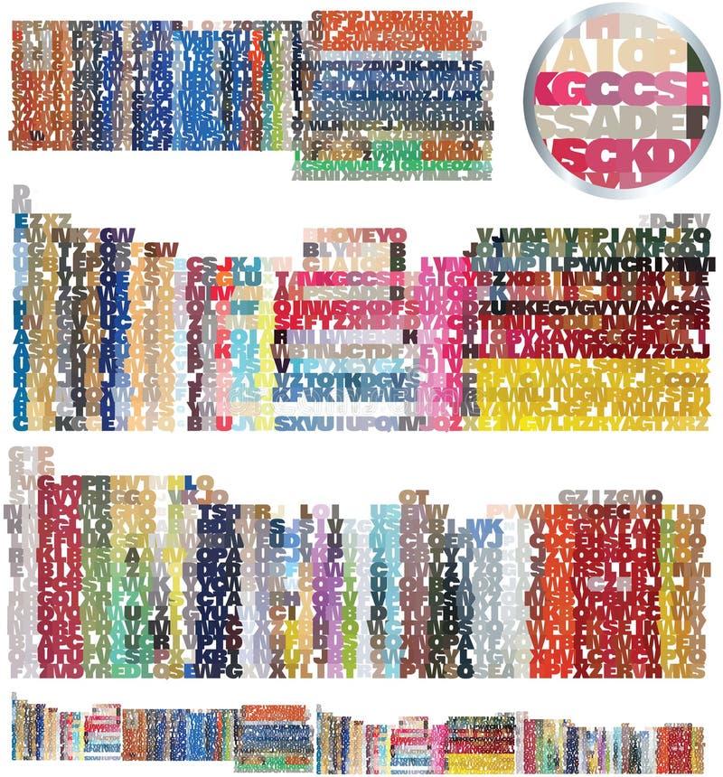 Conjunto de la librería y de la biblioteca stock de ilustración