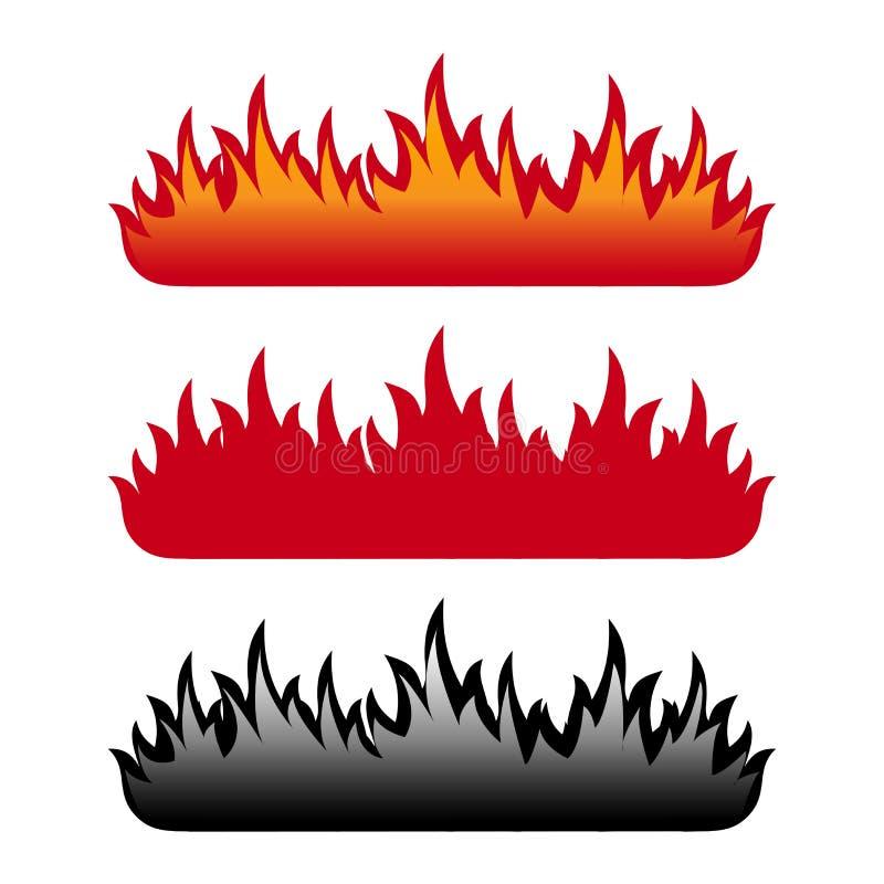 Conjunto de la llama ilustración del vector