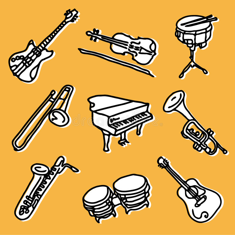 Conjunto de la música libre illustration
