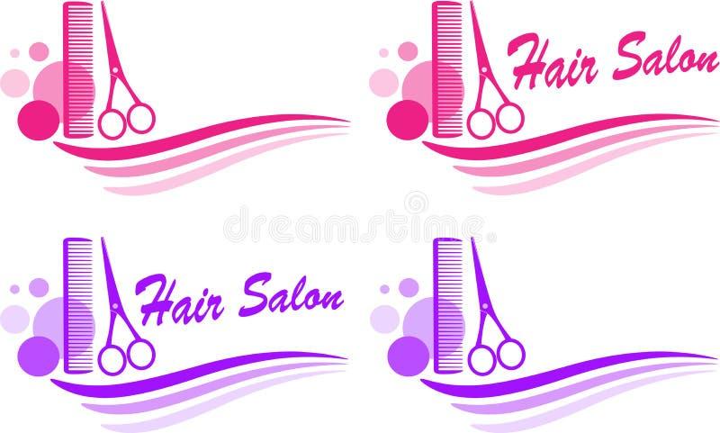 Conjunto de la muestra de la barbería ilustración del vector
