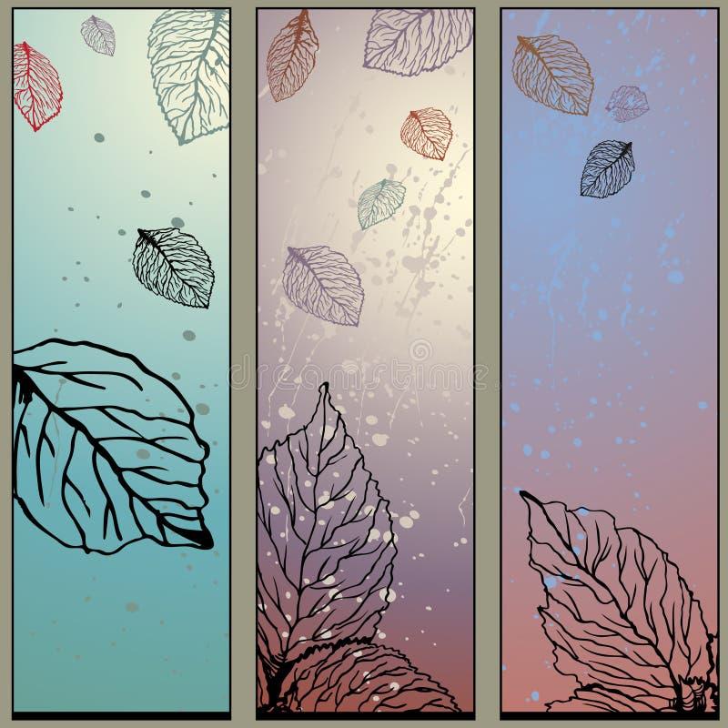 Conjunto de la naturaleza de los 3 paneles libre illustration
