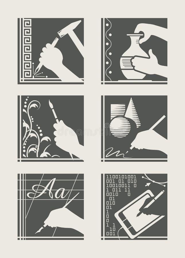 Conjunto de la ocupación del arte ilustración del vector