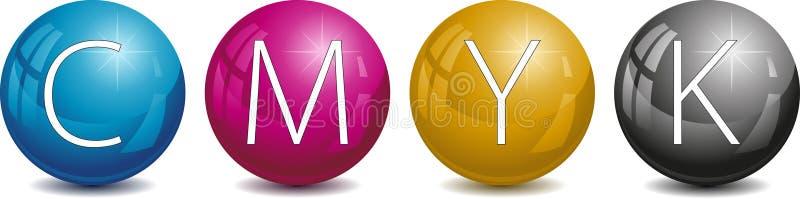 Conjunto de la perla del color ilustración del vector