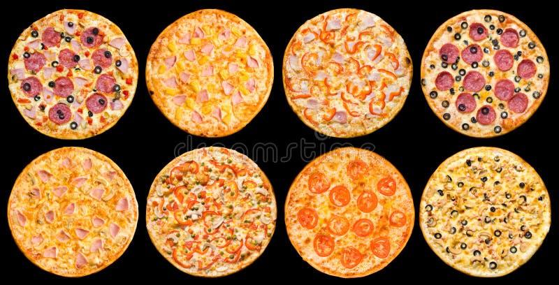 Conjunto de la pizza fotografía de archivo libre de regalías