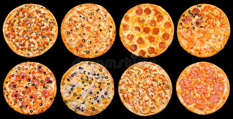Conjunto de la pizza imagen de archivo libre de regalías
