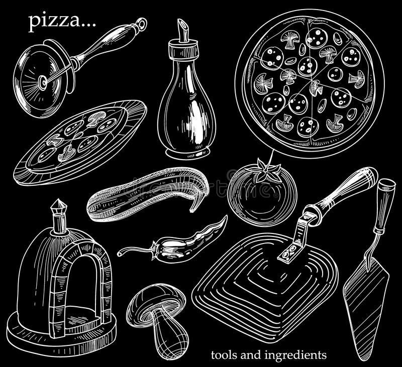 Conjunto de la pizza libre illustration