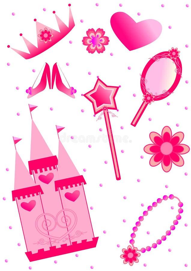 Conjunto de la princesa libre illustration