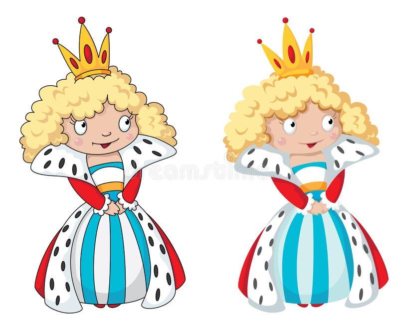 Conjunto de la reina ilustración del vector