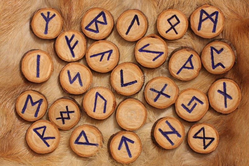 Conjunto de la runa fotografía de archivo libre de regalías
