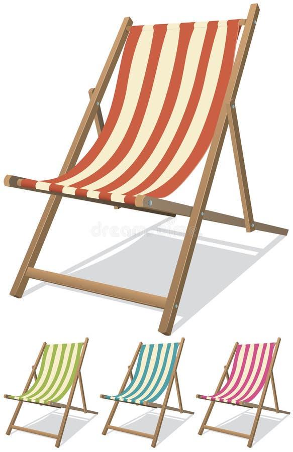 Conjunto de la silla de playa libre illustration