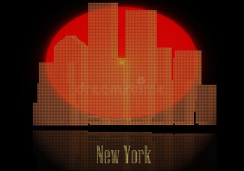 Conjunto de la silueta de las ciudades del vector ilustración del vector