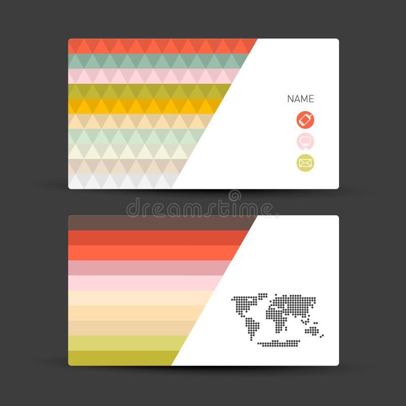 Conjunto de la tarjeta de visita libre illustration