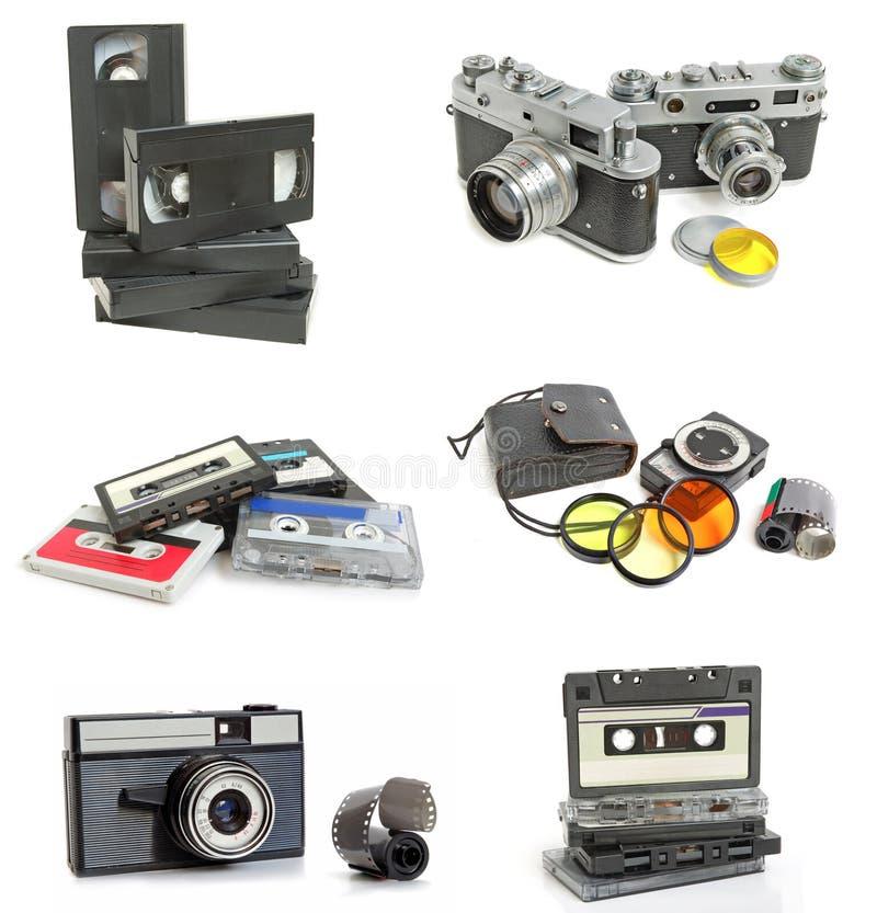 Conjunto de la vendimia imagenes de archivo