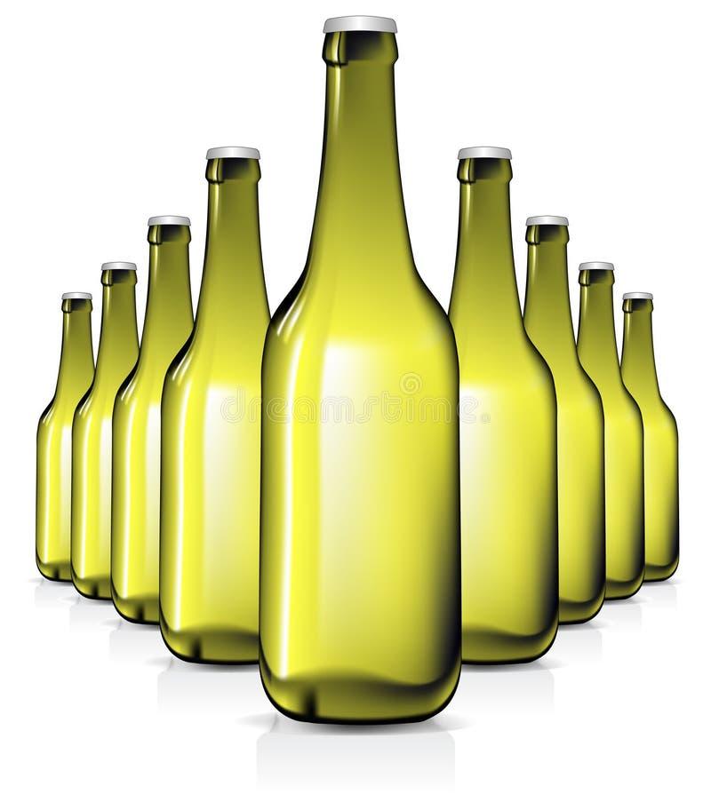 Conjunto de las botellas de cristal libre illustration