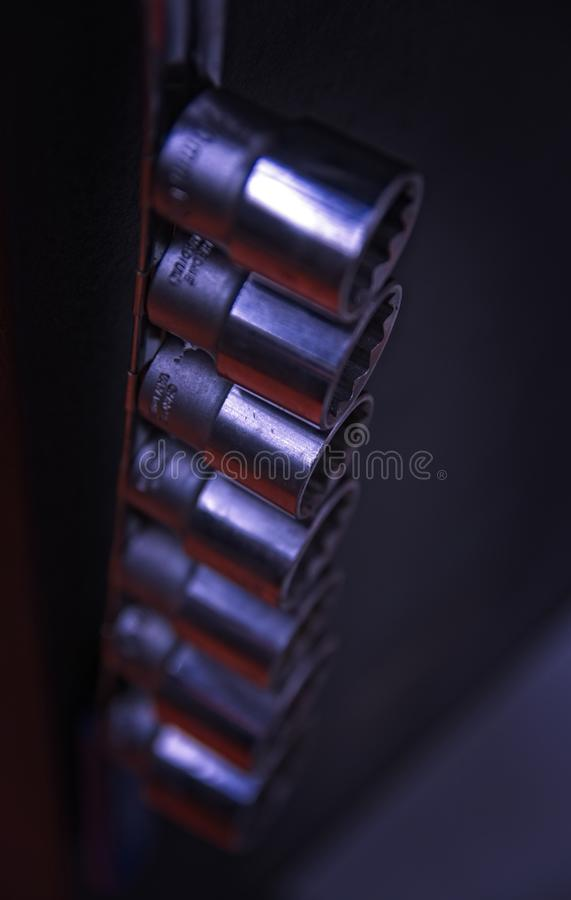 Conjunto de llaves de socket imágenes de archivo libres de regalías