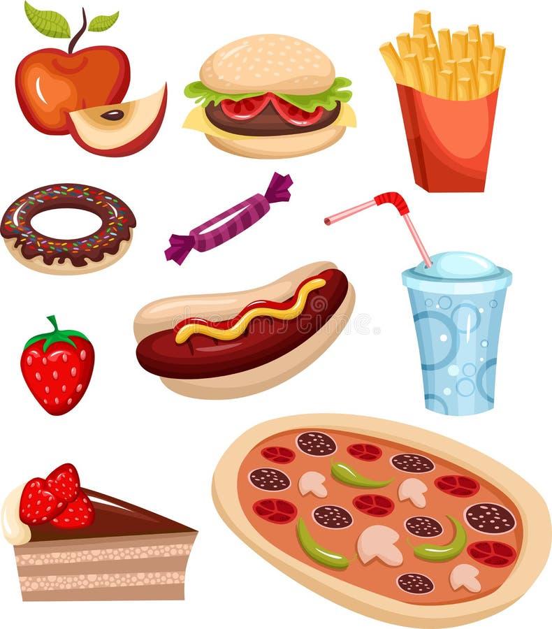 Conjunto de los alimentos de preparación rápida