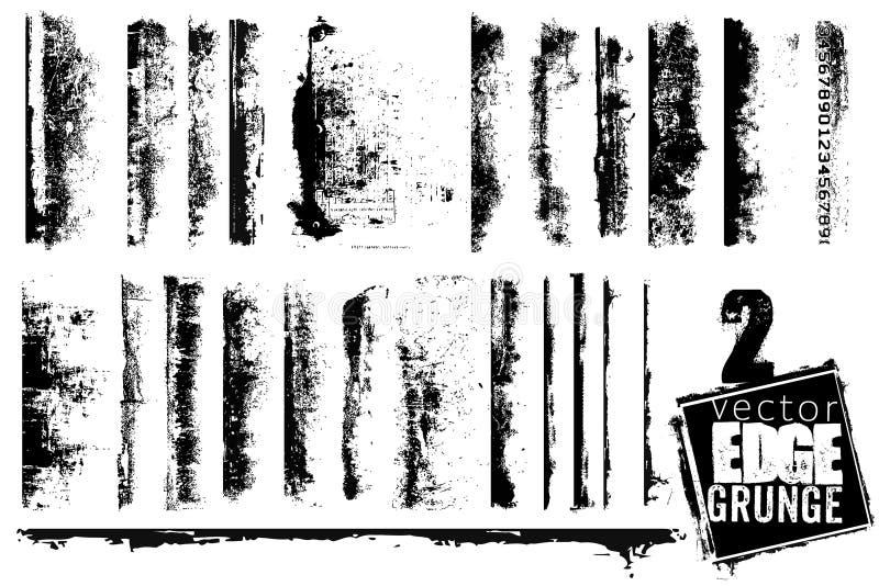 Conjunto de los bordes de Grunge stock de ilustración