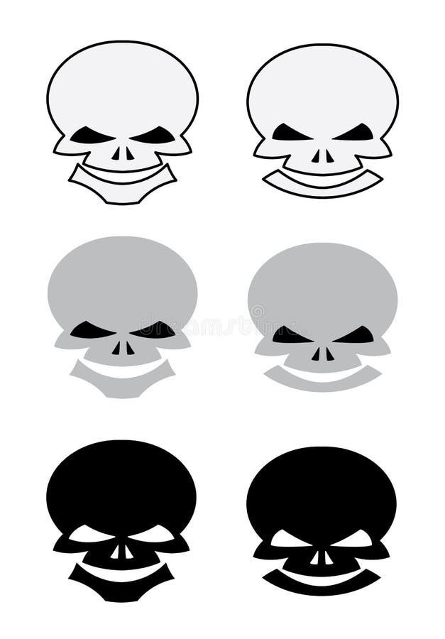 Conjunto De Los Cráneos Para El Tatuaje Fotos de archivo