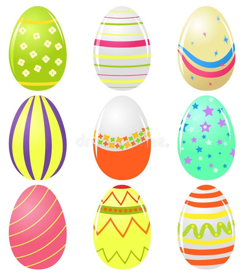 Conjunto de los huevos de Pascua libre illustration