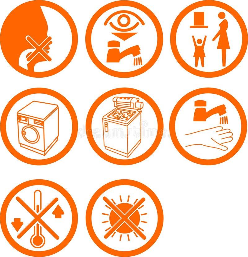 Conjunto de los iconos o de los botones caseros ilustración del vector