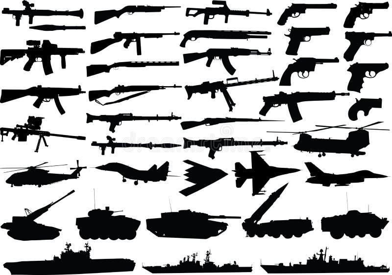 Conjunto de los militares libre illustration