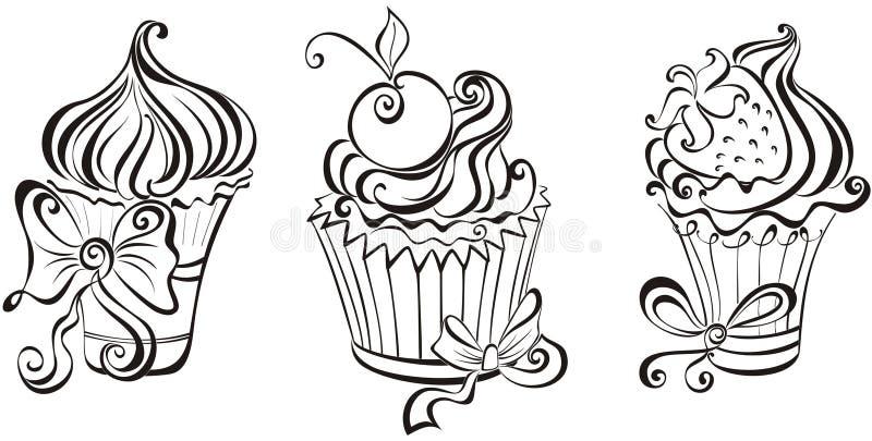 Conjunto de magdalenas libre illustration