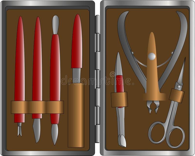 Conjunto de manicura stock de ilustración