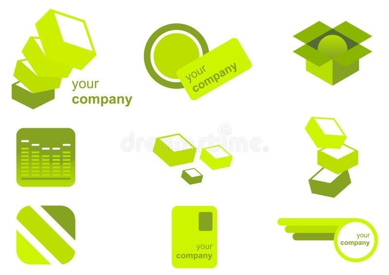 Conjunto de marcado en caliente del icono ilustración del vector