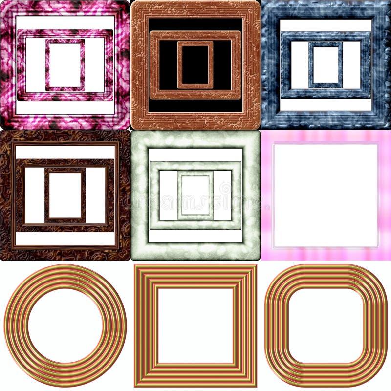 Conjunto de marcos stock de ilustración