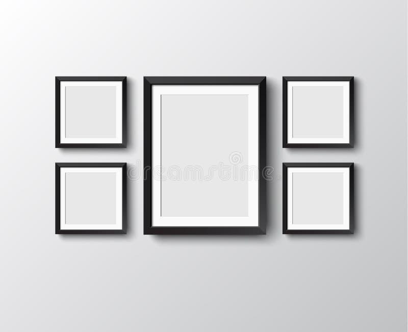 Conjunto de marcos ilustración del vector. Ilustración de casero ...
