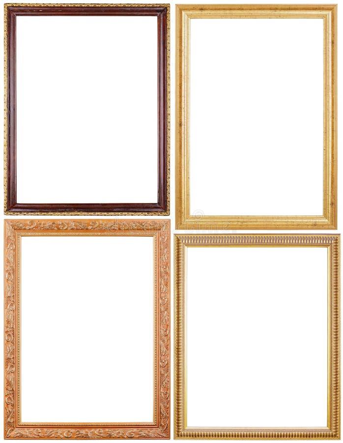 Conjunto de marcos en blanco foto de archivo libre de regalías