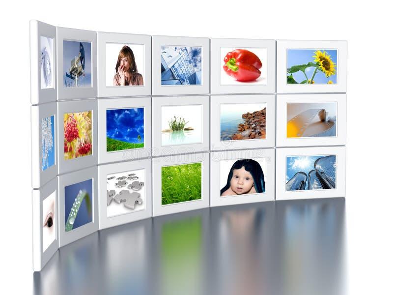 Conjunto de monitores imagen de archivo libre de regalías