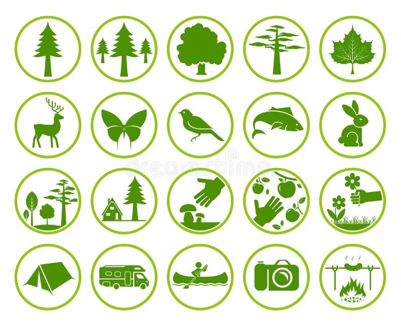 Conjunto de muestras de la naturaleza libre illustration
