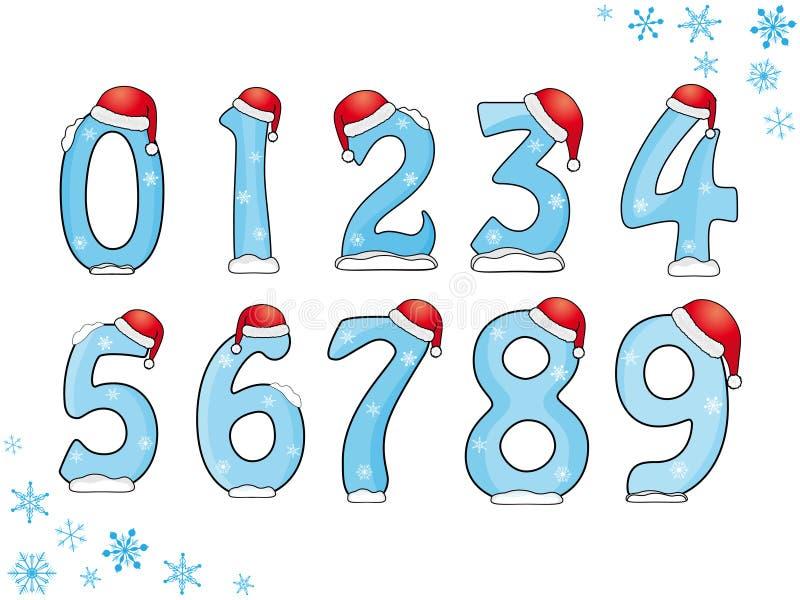 Conjunto de números de la Navidad libre illustration