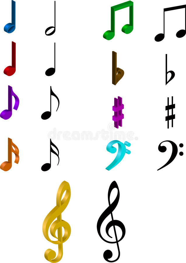 Conjunto de notas de musicals libre illustration