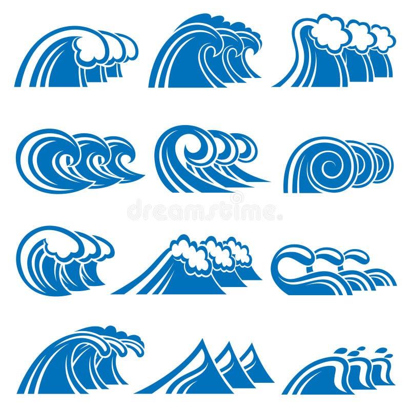 Conjunto de ondas ilustración del vector