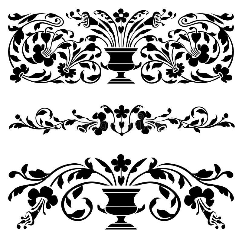 Conjunto de ornamentos viejos del vector ilustración del vector