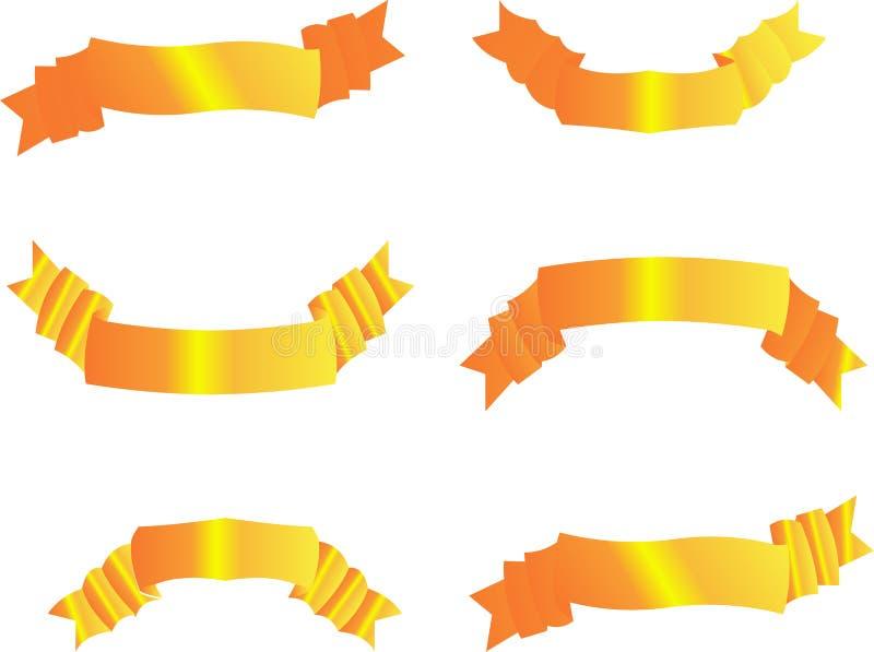 Conjunto de oro de la bandera libre illustration