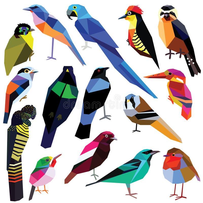 Conjunto de pájaros libre illustration