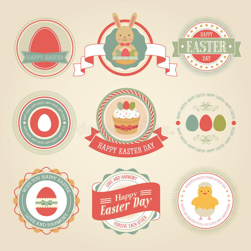 Conjunto de Pascua stock de ilustración