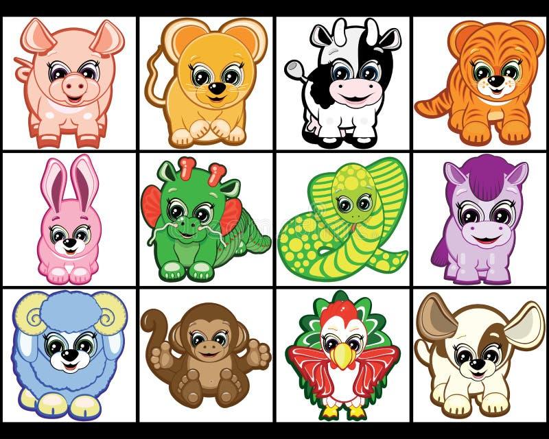 Conjunto de pequeños animales. libre illustration