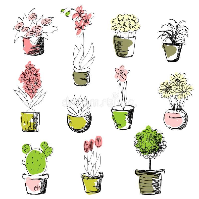 Conjunto de plantas libre illustration