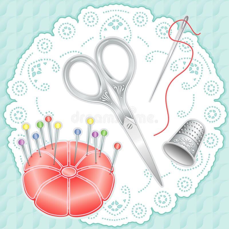 conjunto de plata del bordado de +EPS libre illustration