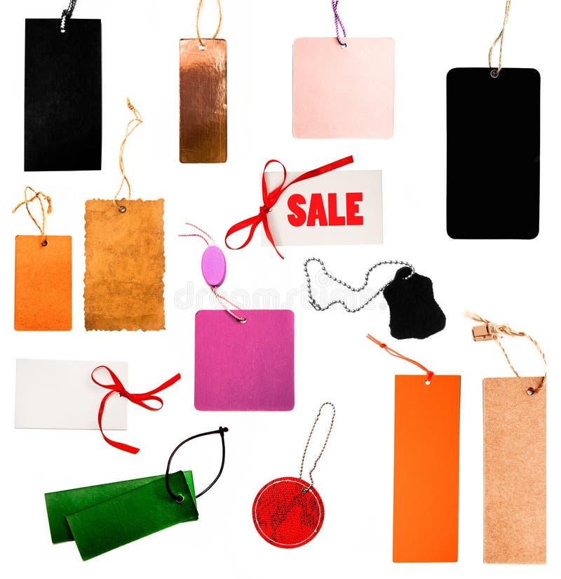 Conjunto de precios en blanco foto de archivo libre de regalías