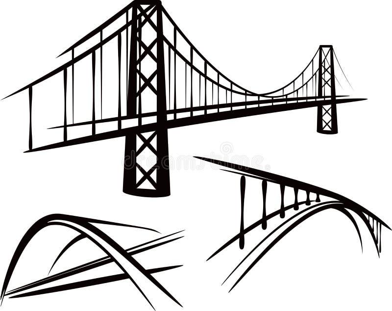 Conjunto de puentes ilustración del vector
